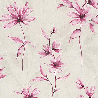 Lucera Floral Wallpaper Rosa Rasch 608472