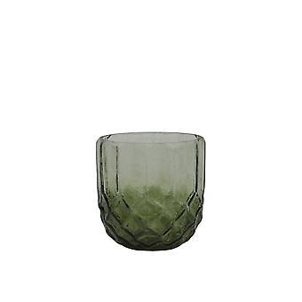 Light & Living Tealight 10x10cm - Forges Glass Dark Green