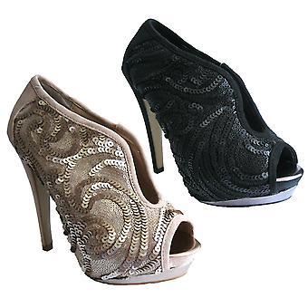 Rascal Paulette Sequin Peeptoe Shoe Boots