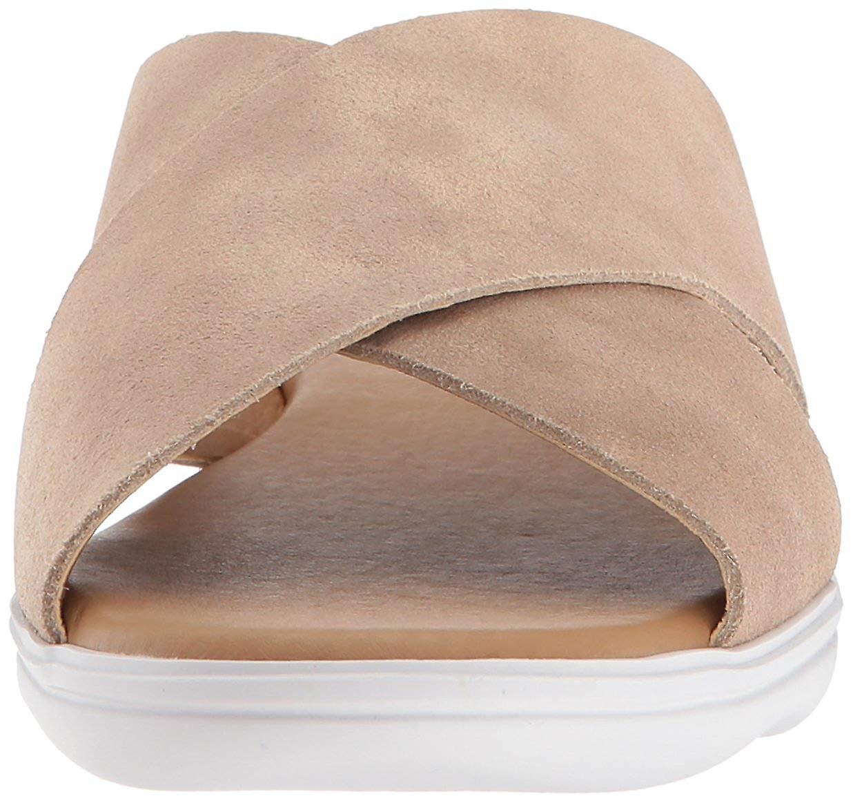 Lucky Brand Womens Mahlay Fabric Peep Toe Casual Slide Sandals