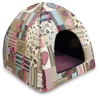Arquivet Iglu Hearts And Stripes 45X45X40Cm (Katzen , Erholung , Iglus)
