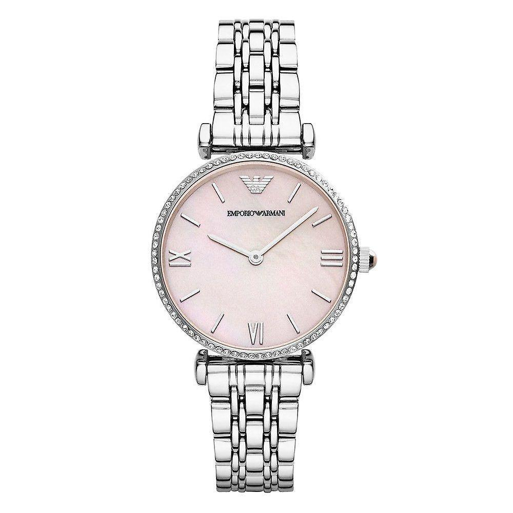 Emporio Armani Womens' Watch - AR1779 - Pink Mother of Pearl/Steel