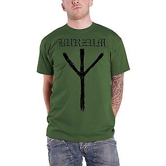 Burzum T Shirt Rune Band Logo new Official Mens Green
