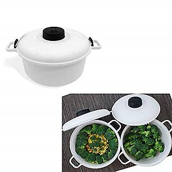 Microwave Pressure Cooker 2.85L Kitchen Rice Vegetable Cooking Master Non-Stick