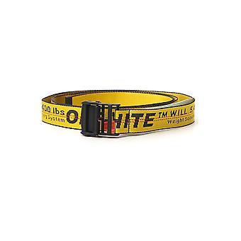 Off-white Owrb009s20fab0011810 Women's Yellow Fabric Belt