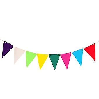 Multi 20ft (6M) wasserdichte Stoff Outdoor Living Garden Bunting Patio Dekoration