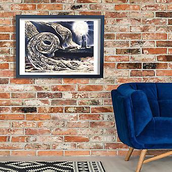 William Blake - o amantes turbilhão Poster impressão giclée