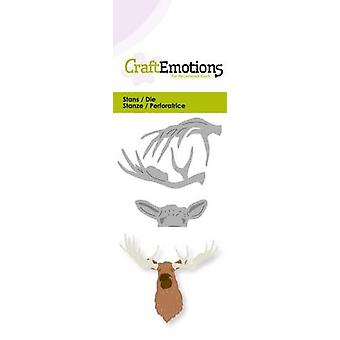 CraftEmotions Die - huvud älg 3D-kort 5x10cm
