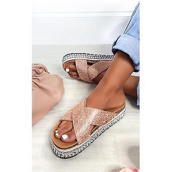Sandali Diamante a forma di flatform IKRUSH