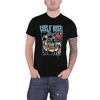 Guns N Roses camiseta Calaveras Apetito para la destrucción azul logo oficial hombres
