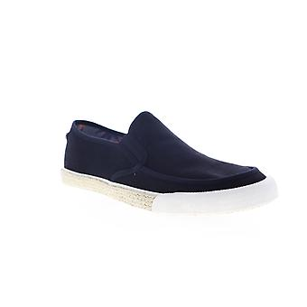 Original Penguin Rodney  Mens Black Canvas Slip On Sneakers Shoes