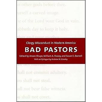 Bad Pastors - Clergy Misconduct in Modern America by Anson D. Shupe -