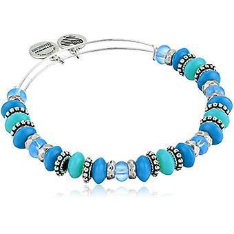 Alex and Ani Horizon Ocean Bangle Bracelet - Rafaelian Silver - Expandable - A18EBHORS