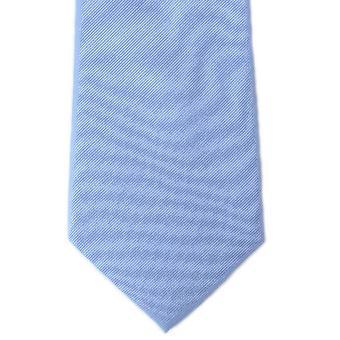 Michelsons Lontoo tavallinen Toimikas-silkki solmio - vaaleansininen