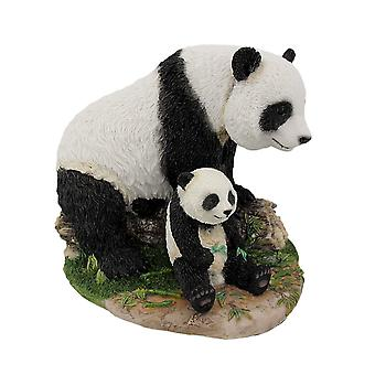 Mother And Child Panda Bear Statue Baby Animal