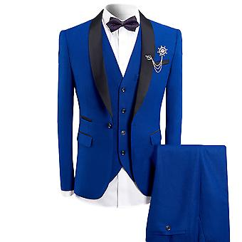 Allthemen Men's Tuxedo Suit 3-Pieces Slim Fit Business Suits Blazer&Vest&Pants