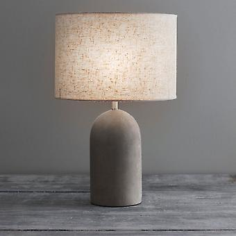 Garden Trading Millbank Bullet Table Lamp In A Polymer Concrete