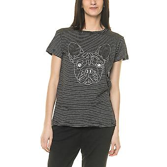 Sublevel Women's Sublevel T-Shirt With Embroidery