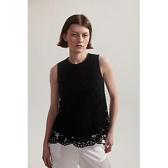 Lindsay Nicholas NY Lace Top Black