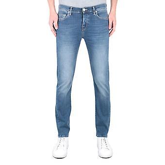 True Religion Rocco Relaxed Skinny Deep Blue Denim Jeans