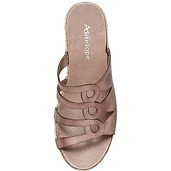 Antelope Womens 728 Leather Peep Toe Casual Espadrille Sandals