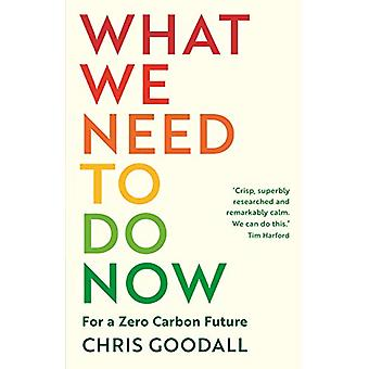 What We Need to Do Now - For a Zero Carbon Future by Chris Goodall - 9