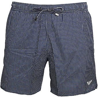 Emporio Armani Micro Dots Pattern Swim Shorts, Blue