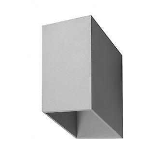 Tunnel Gray Aluminum Wall Light 1 Bulb