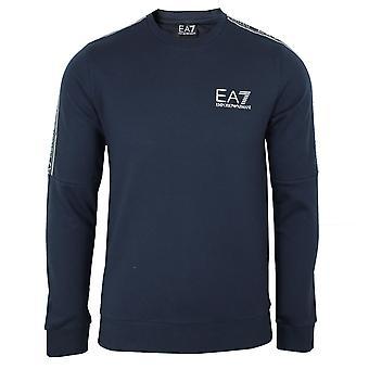 Ea7 emporio armani men's navy taped sweatshirt