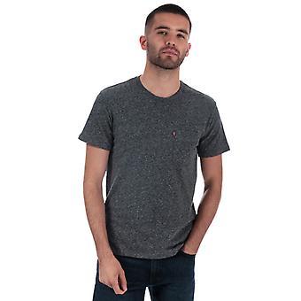 Men's Levis Classic Pocket T-Shirt in Grey
