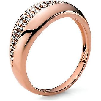 Diamond ring 585/red gold 0.21 ct.