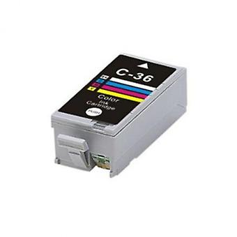 RudyTwos Replacement for Canon CLI-36 Ink Cartridge Tri-Colour(CyanYellow&Magenta) Compatible with Pixma iP100, IP110, Mini 260, 320