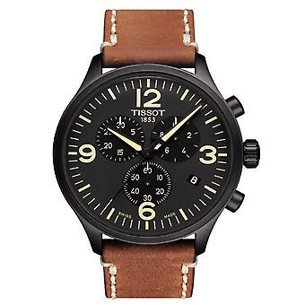 Tissot Watches T116.617.36.057.00 Xl Chronograph Brown Leather Men's Watch
