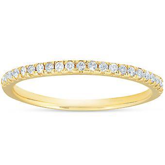 1/5CT diamant giftering kvinners stables bånd 10k gult gull