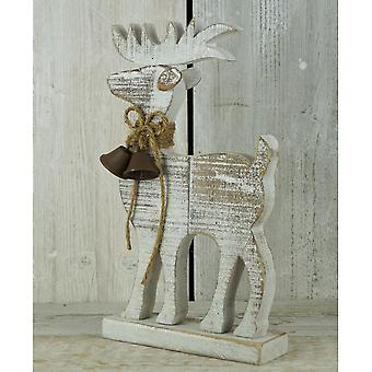 Sparkly Driftwood Reindeer Decoration