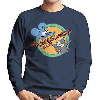 The Simpsons Itchy og Scratchy show-sweatshirt til mænd