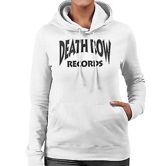 Death Row Recrods Logo Black Women's Hooded Sweatshirt