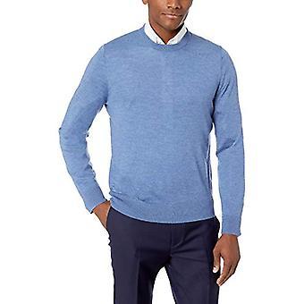 BUTTONED DOWN Men's Italian Merino Wool Lightweight Cashwool Crewneck Sweater...