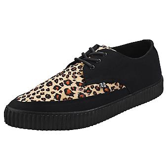 T.U.K Pointed Creeper Sneaker Mens Creeper Shoes in Black Leopard