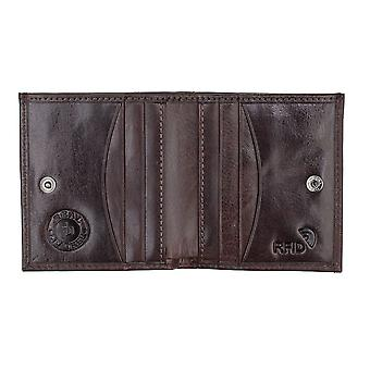 Primehide Mens Leather Card Holder Wallet Coin Tray Purse RFID Blocking 5603