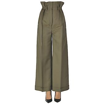 Acne Studios Ezgl151062 Women's Green Wool Pants
