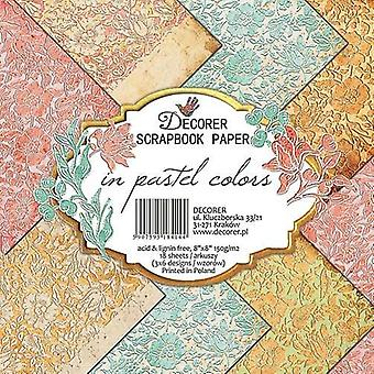 Decorer In Pastel Colors 8x8 Inch Paper Pack