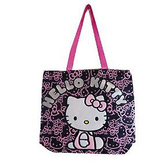 Tote Bag Hello Kitty Black Face Pattern Girls Hand Purse 81414