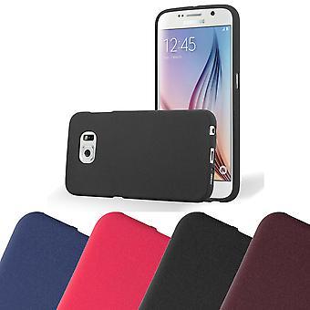 Custodia Cadorabo per la copertura per custodia Samsung Galaxy S6 - flessibile custodia in silicone TPU Ultra Slim Soft Back Cover Bumper