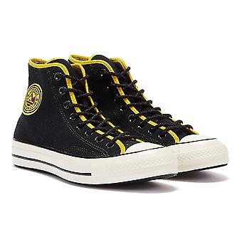Converse Chuck 70 Archival Terry Mens Black / Yellow Hi Trainers