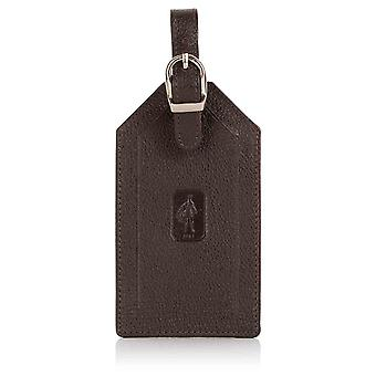 Espresso Malvern Leather Luggage Tag