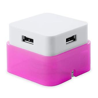 4-Port USB Hub Pink