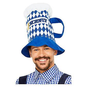 Pánske Oktoberfest Chequered Pivný klobúk