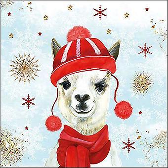 Ambiente 3 Ply Paper Napkins, Winter Llama