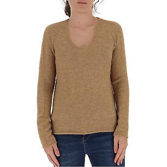 Fabiana Filippi Mad220w087d190097 Women's Beige Wool Sweater
